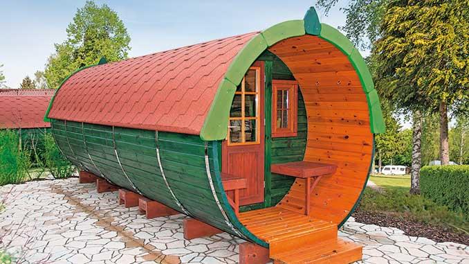 Seit 2011 sind unsere Original Finkota Campingfässer bei Kurzzeit-Übenachtungsgästen beliebt.
