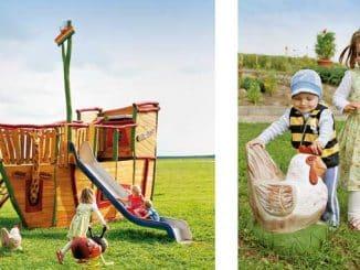 Spielgeräte aus kreativen Ideen und Robinienholz
