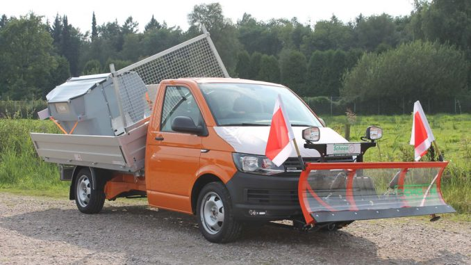 VW Nutzfahrzeuge Transporter mit Schoon Kipper und Winterdienst